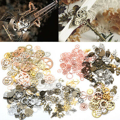 DIY Metal Brass Charm Jewelry Mini Part Steampunk 100g Cogs Gears Clock Pointer