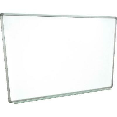 "Magnetic Wall-Mounted Dry Erase Board, 60"" x 40"", Silver Aluminum Frame"