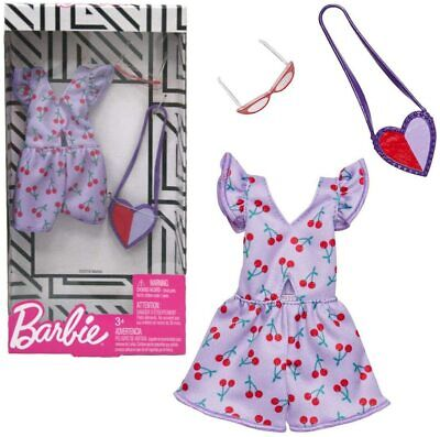 Barbie Complete Looks Doll Clothes, Outfit Dolls Featuring Purple Romper with Ch