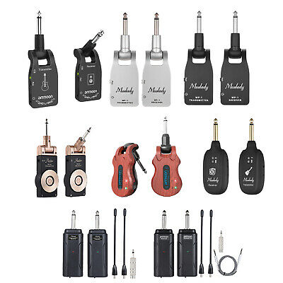 Wireless Guitar System Audio Transmitter Receiver for Electric Guitar Bass J3X8