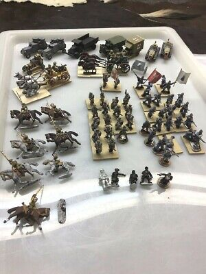 25MM Assort WWII Painted/unpainted Lead Miniatures 135 Pic Russian/Old Glory