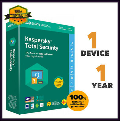 Kaspersky Total Security Antivirus - 2020 Version 1 PC Device 1 Year