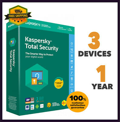 Kaspersky Total Security Antivirus - 2020 Version 3 PC Device 1 Year