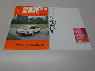 TWO (2) MERCEDES-BENZ 'INFORMATION DE VENTE' LEAFLETS, in FRENCH. '79 & '91