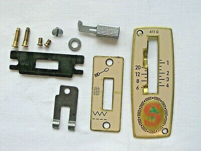 Rare Singer 411G Slant-o-Matic Sewing Machine Stitch Selector Plates & Lever