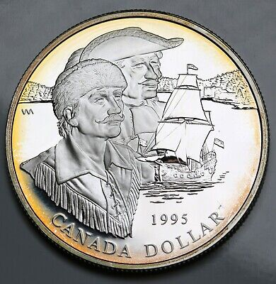 1995 Canada Sterling Silver Dollar $1 Proof Hudson Bay Co. GEM FDC