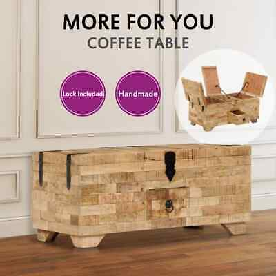 vidaXL Solid Mango Wood Coffee Table 80x40x35cm Couch Living Room Tea Side