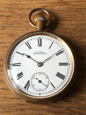 ANTIQUE CIRCA 1890s WALTHAM POCKET WATCH GREAT WORKING ORDER HIGH GRADE MOVEMENT