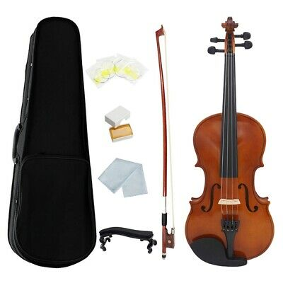 Violin Natural Acoustic Solid Wood Spruce Flame Maple Veneer Violin Fiddle A2X8