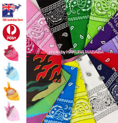 BANDANA Paisley 100% Cotton Head Wrap Headband Scarf Durag Kerchief Face Mask