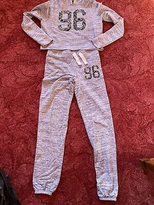 Girls 915 Joggers & Top Age 13-15 Grey