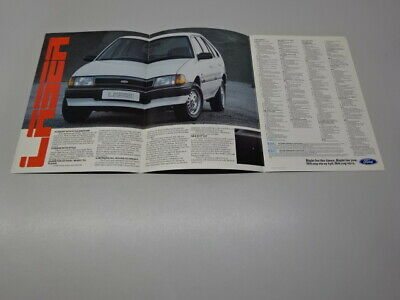FORD LASER BROCHURE / SALES CARD, SOUTH AFRICAN MARKET, in ENGLISH & AFRIKAANS