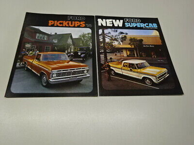 1974 FORD PICKUPS BROCHURE & SUPERCAB LEAFLET, in ENGLISH. 1/74 & 4/74.