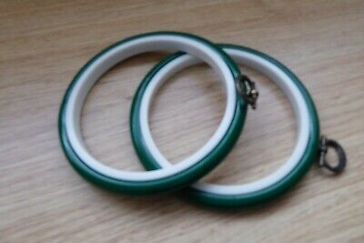 2   Green  Flexi Hoop For Cross Stitch Or  Embroidery - 4 Inch