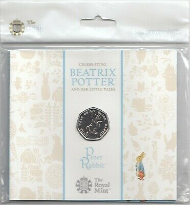 2017 Royal Mint Peter Rabbit 50P Fifty Pence Coin Pack Sealed Uncirculated