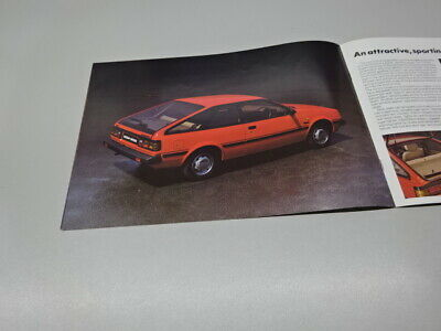 NISSAN SUNNY BROCHURE, UK MARKET, in ENGLISH. 5.82. SALOON / COUPE / ESTATE.