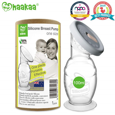 Haakaa Breastpump with Suction Base and Upgrade Silicone Lid 100% Food Grade BPA