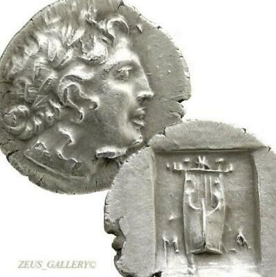 LYCIAN League APOLLO Lyre 48 BC time of Julius Caesar Ancient Greek Silver Coin