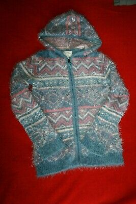 Fat Face Girls Zip Up Knitted Winter Hoodie Age 12-13 years