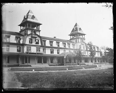 (1) LATE 1800s EARLY 1900s GLASS NEGATIVE, DEER PARK HOTEL, NORTH WOODSTOCK, NH
