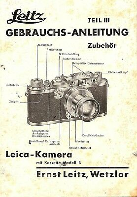 1936 Leica Camera Accessories How To Use Instruction Manual -German Text