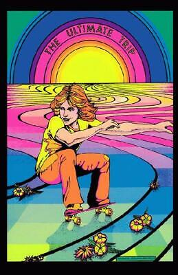 Ultimate Trip Psychedelic Art Poster Reprint 1976 Skateboarding