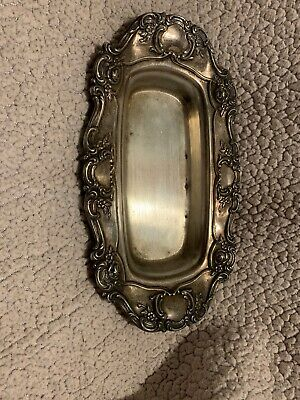 Vintage Towle Silver Plate 4107 Butter Dish-Ornate Design