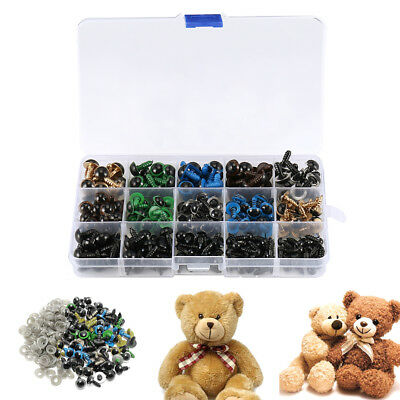 264x Plastic Safety Eyes Toys for Teddy Bear Doll Animal Making Craft ScrewsA