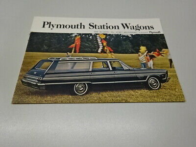 1965 PLYMOUTH STATION WAGONS BROCHURE / BOOKLET, US MARKET, in ENGLISH. FURY.