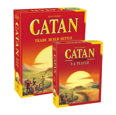 Catan Standard Board Game AND Catan 5-6 Player Extension Board Game, From USA
