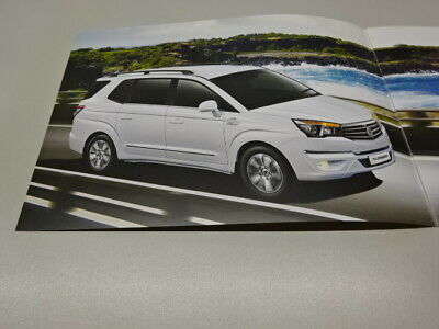 SSANGYONG TURISMO BROCHURE, UK MARKET, in ENGLISH. 2017 ?