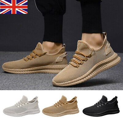 UK Mens Pumps Trainers Fitness Mesh Sports Running Gym Casual Sneakers Shoes