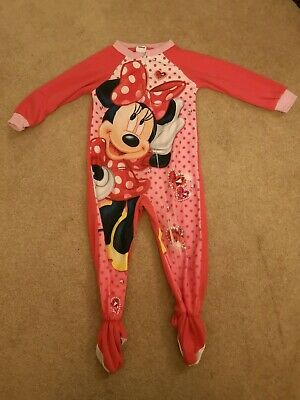 Girls Disney Minnie Mouse Pink Pyjamas all in one Age 3 Years