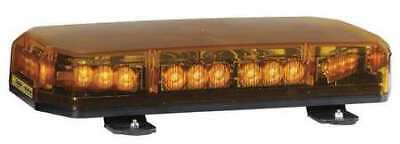 CODE 3 SHL10A Lo Mini Lightbar,LED,Ambr,Perm,17-5/8 In