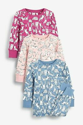 BNWT Next Girls  7-8  Years Bunny / Hedgehog Print Snuggle Fit Pyjamas
