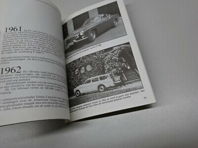 VOLVO 1927 - 1986 CORPORATE HISTORY BOOKLET, in DUTCH. 1986. P1900, PV 544.