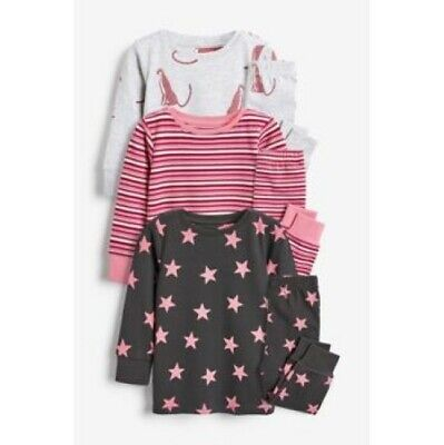 BNWT Next Girls 7-8  Years Snuggle Fit Pyjamas with STARS, Multicolour Design