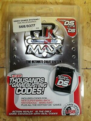 Action Replay Max For Nintendo DS & Lite Ultimate Cheat System Codes SEALED RARE