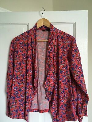 girls Red kimono Top With Floral Print Age 14-15 915 newlook