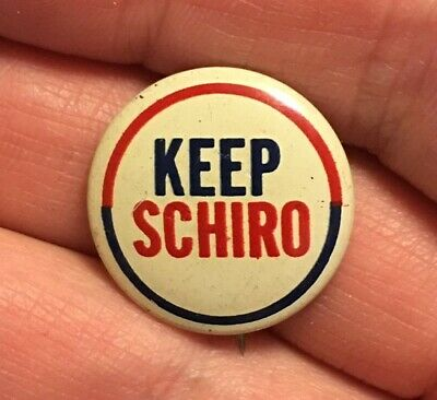 1962 or 1965 Victor Schiro for Mayor New Orleans Louisiana Litho Button Pin