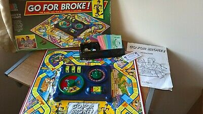 Go For Broke Vintage Board Game 1993 - Complete - Classic Family Game MB Hasbro