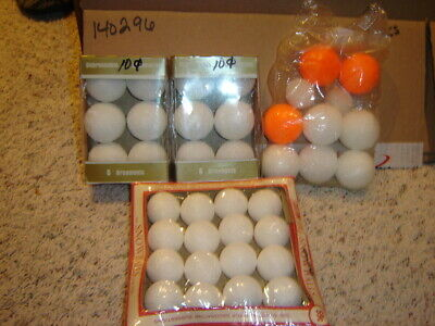 Assorted Sizes and Shapes of Styrofoam Balls in original packaging 38 Quantity