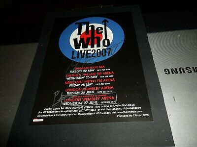 Autograph On Flyer The Who Roger Daltrey And Pete Townsend The Who +Pic + C.o.a