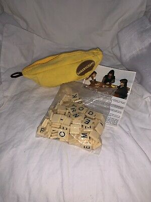 Bananagrams Crossword Family Fun Game, All Tiles Included, With Instructions EUC