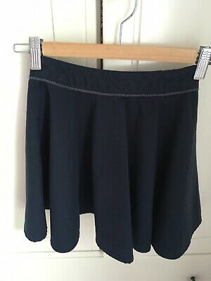 M&S Marks And Spencer Girls Navy School Skirt Age 5-6 Years, Adjustable Waist