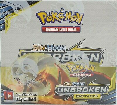 Pokemon Tcg Sun & Moon Unbroken Bonds Booster Sealed Box - English - Limited Qty