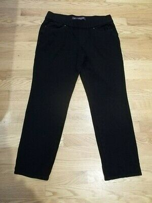 Gloria Vanderbilt Anabella Pull-On STRETCH Knit Women's Pants Size Med. Black
