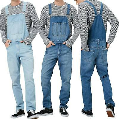 Men Boys Denim Dungarees Trousers Bib Brace Overalls Jeans Pocket Jumpsuit Pants