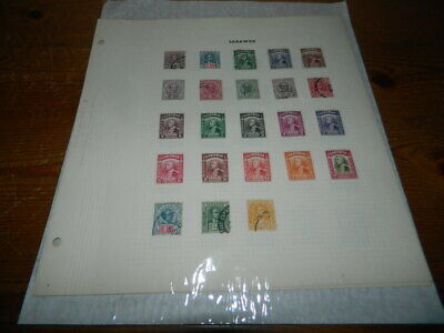 SARAWAK LARGELY MINT COLLECTION ON LEAVES TO 1952 (68 stamps)