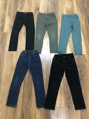 M&S H&M Boys Straight Slim Jeans Trousers Black Green Blue Denim Age 6 7 8 9